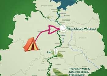 Das Gruene Band deutschlands laueft direkt am campingpark Fuhrenkamp vorbei